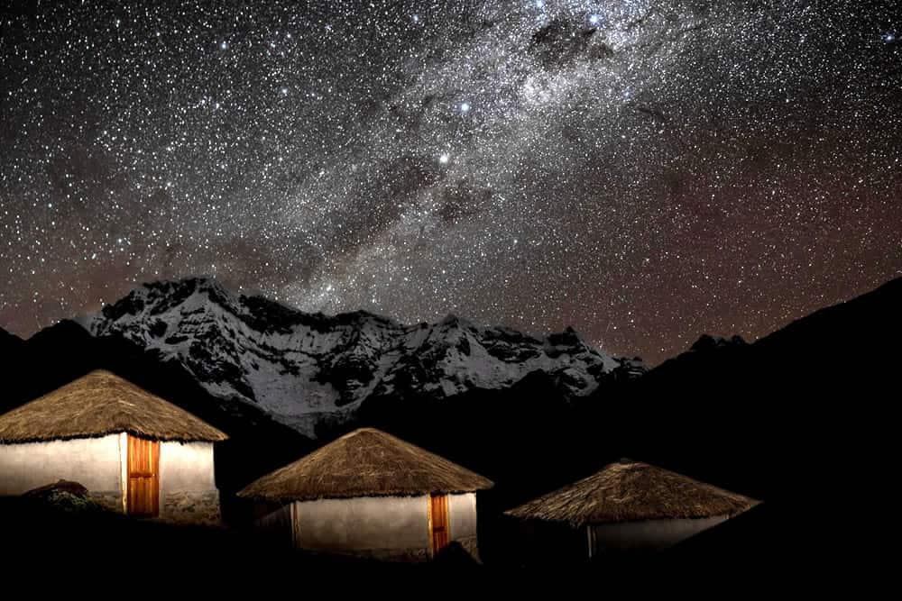 Ausangate lodge at Upis campsite