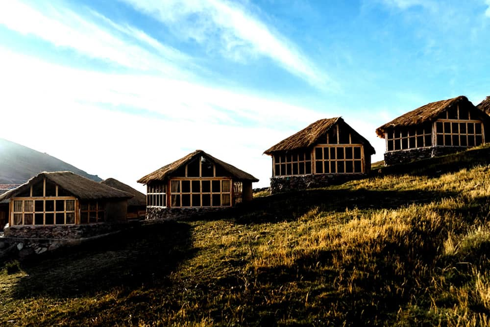 Ausangate Cabins at Upis Campsite on the way to the Rainbow Mountain