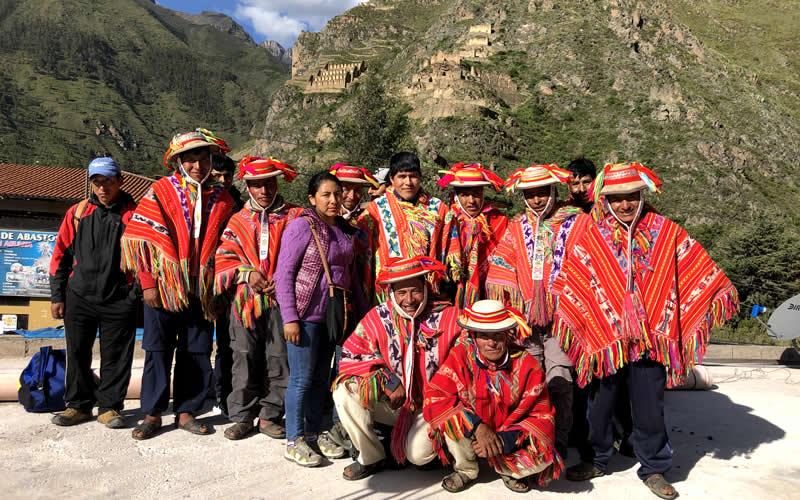 inca trail porters in Ollantaytambo