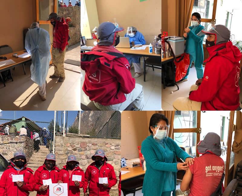 inca trail porteres got vaccines against covid 19